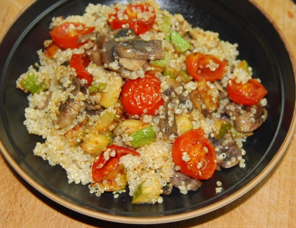 quinoa funghi zucchine